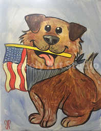"""Patriotic Puppy"""
