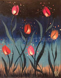 """Midnight Tulips"""