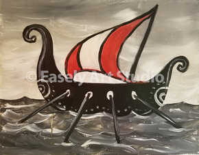 """Viking on the Open Sea"""