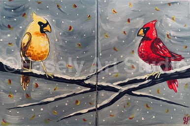 """Cardinals in Snow"""