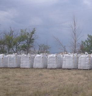 High Plains Biochar in large stacks
