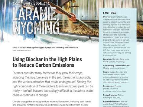 High Plains Biochar Reduces Methane