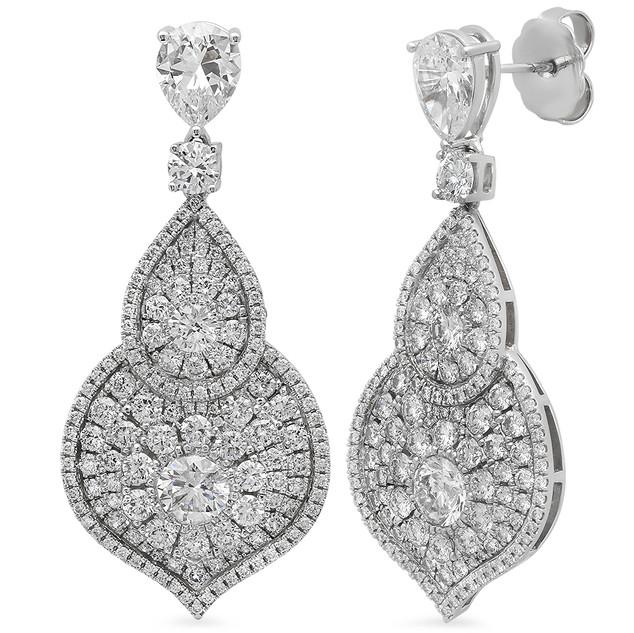 EC654 14K WHITE GOLD DIAMOND EARRINGS