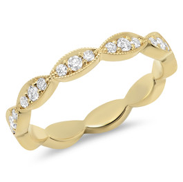 LRC9639 YELLOW GOLD DIAMOND ETERNITY BAND