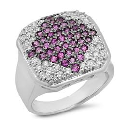 LRC142 PINK & WHITE DIAMOND RING