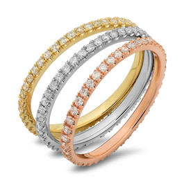 LR5689 14K WHITE, YELLOW OR ROSE GOLD DIAMOND BANDS