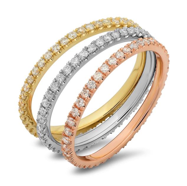 LR5689 14K WHITE, YELLOW OR ROSE GOLD DIAMOND BANDS