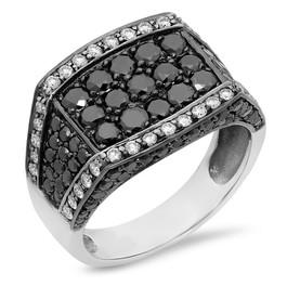 MR1024 MEN'S BLACK DIAMOND RING