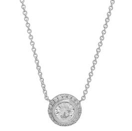 NC516 DIAMOND HALO NECKLACE