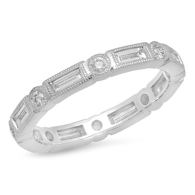 LRC8453 BAGUETTE DIAMOND BAND