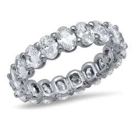 LR4563 OVAL DIAMOND BAND IN 14K WHITE GOLD