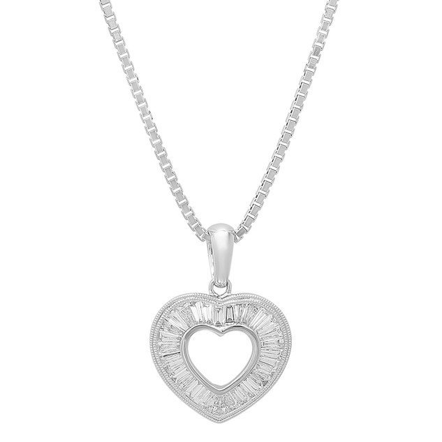 NC654 DIAMOND HEART NECKLACE