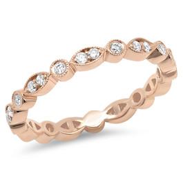 LRC6633 ROSE GOLD DIAMOND ETERNITY BAND