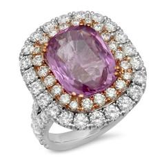 DOUBLE HALO PINK DIAMOND RING