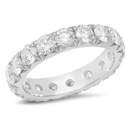 LRC174 FRENCH PAVE DIAMOND ETERNITY BAND