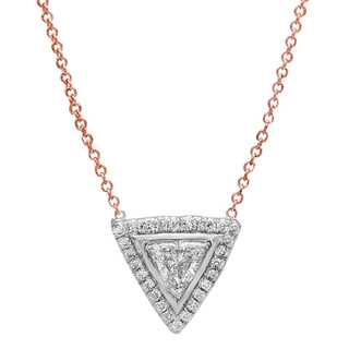 NC102 TRILLION DIAMOND NECKLACE