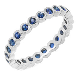 LRC1552 BLUE SAPPHIRE ETERNITY BAND