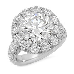 14KWG DIAMOND HALO RING
