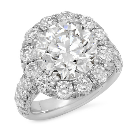 14KWG DIAMOND HALO RING