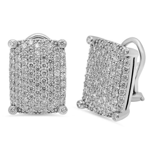 EC102 DIAMOND PAVE EARRINGS
