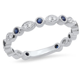 LRC176 SAPPHIRE AND WHITE DIAMOND BAND