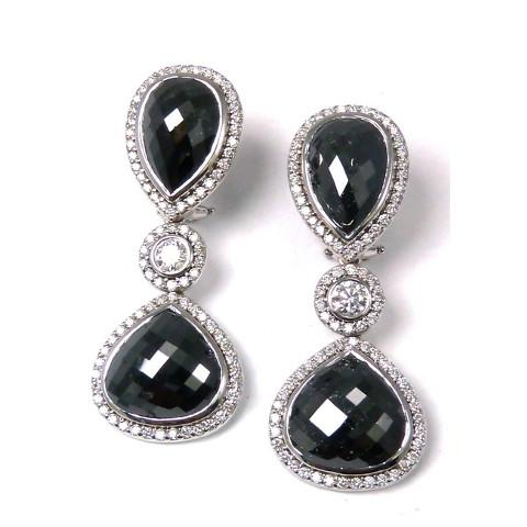 EC100 BLACK & WHITE DIAMOND EARRINGS