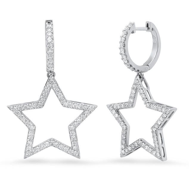 EC5468 DANGLE STAR EARRINGS