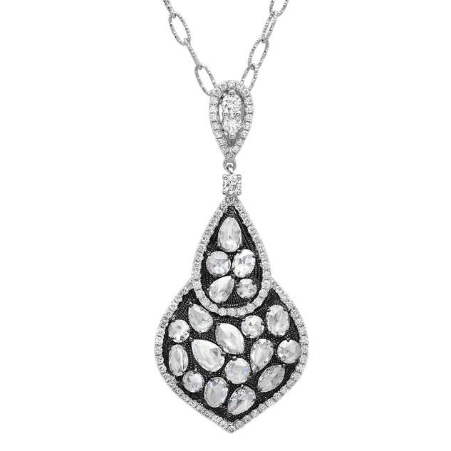 P4660 ROSE CUT DIAMOND PENDANT