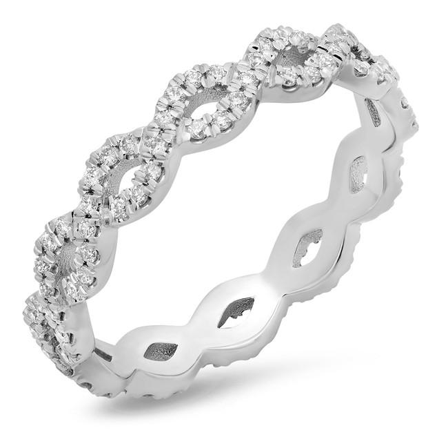 LRC105 DIAMOND INFINITY TWIST ETERNITY BAND