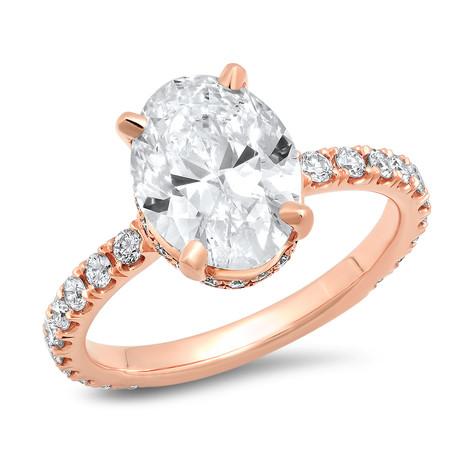 ROSE GOLD OVAL DIAMOND RING