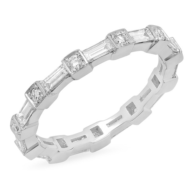 LRC168 BAGUETTE DIAMOND WEDDING BAND