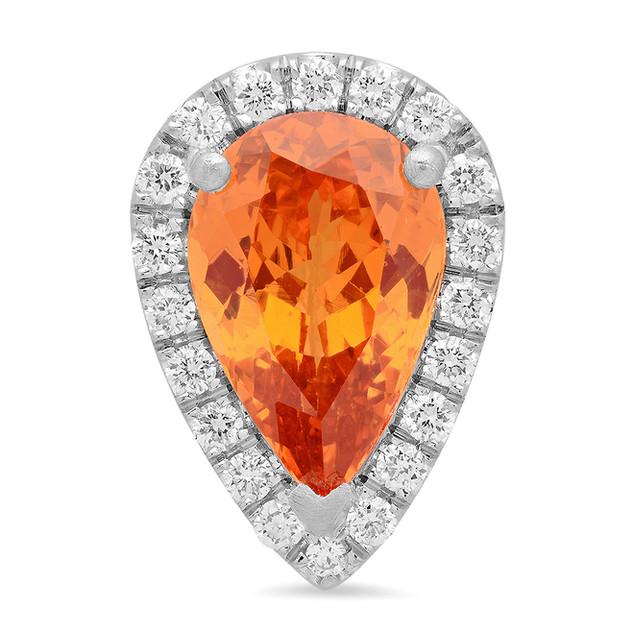 PC152 SPESSARTITE GARNET DIAMOND PENDANT