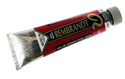 Huile Rembrandt Laque Garance Brune 324 S3
