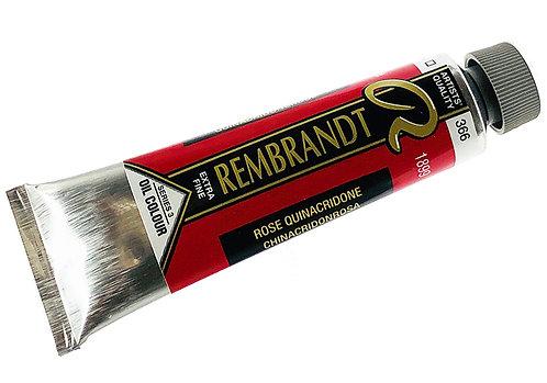 Huile Rembrandt Rose Quinacridone 366 S3