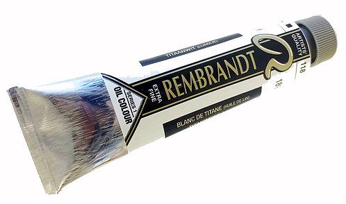 Huile Rembrandt Blanc Titane (Huile de lin) 118 S1