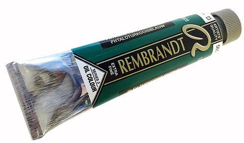Huile Rembrandt Bleu Turquoise Phtalo 565 S3