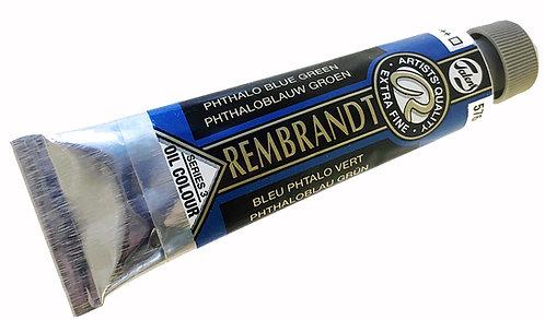 Huile Rembrandt Bleu Phtalo Vert 576 S3