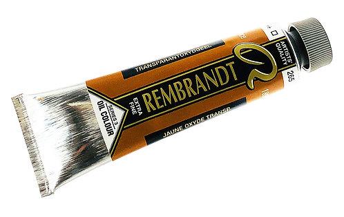Huile Rembrandt Jaune Oxyde Transparent 265 S3