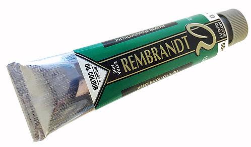 Huile Rembrandt Vert Phtalo Bleu 680 S3
