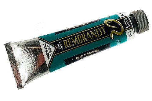 Huile Rembrandt Bleu Turquoise 522 S3