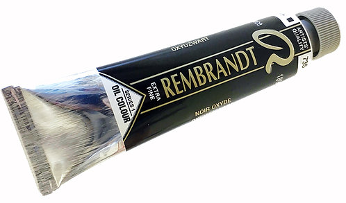 Huile Rembrandt Noir Oxyde 735 S1