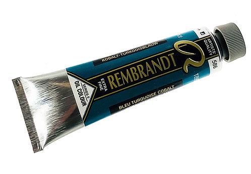 Huile Rembrandt Bleu Turquoise Cobalt 586 S5
