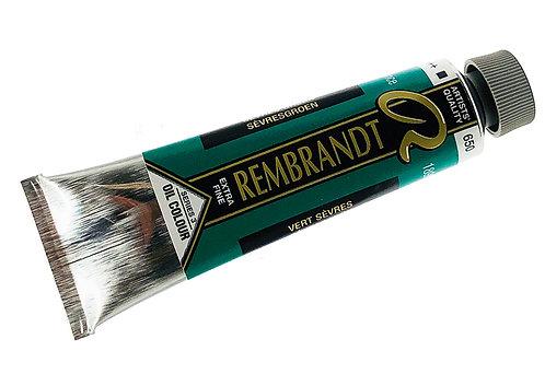 Huile Rembrandt Vert Sèvres 650 S3