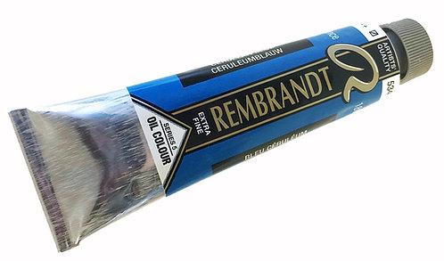 Huile Rembrandt Bleu Céruléum 534 S5