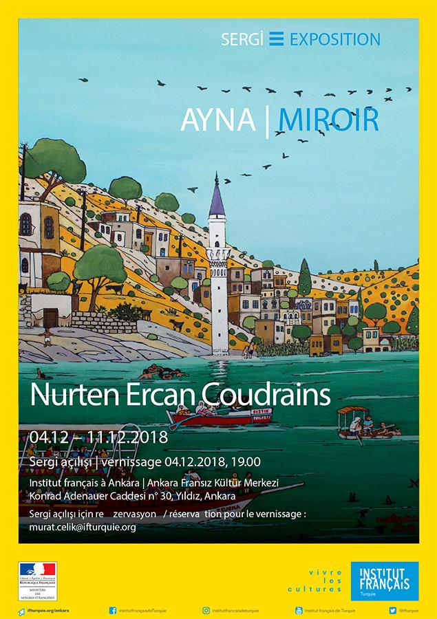 affiche exposition Nurten Ercan Coudrains