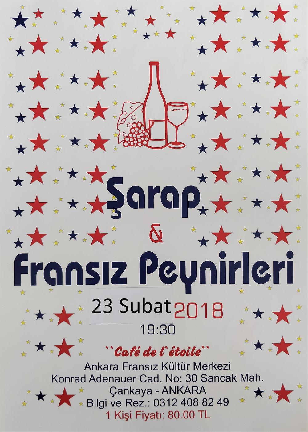 Affiche soirée vins et fromages