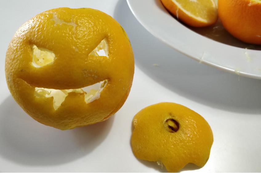 Oranges d'Halloween