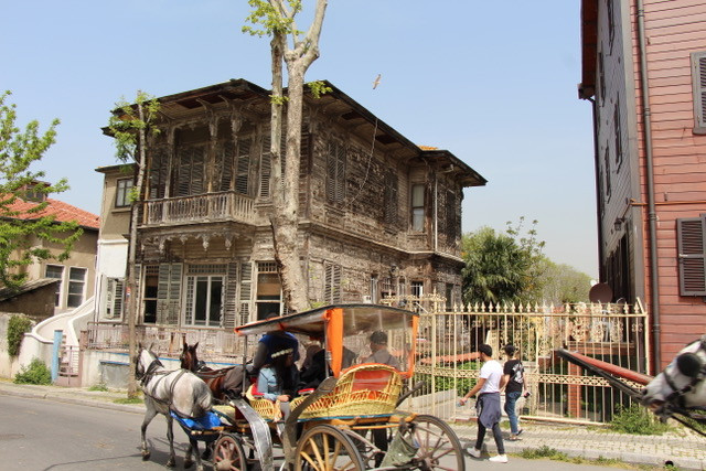Îles des Princes, YALI, maisons en bois, voiture à cheval, buyuk ada
