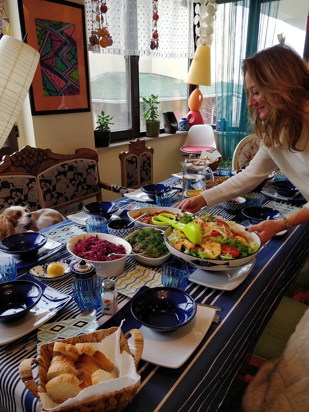 Table bien garnie cuisine Turque