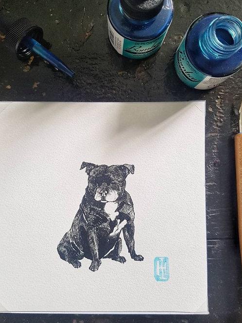 Mini Square Dog Prints | Original Art | Monogrammed